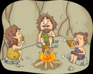 cavemen-eating-small