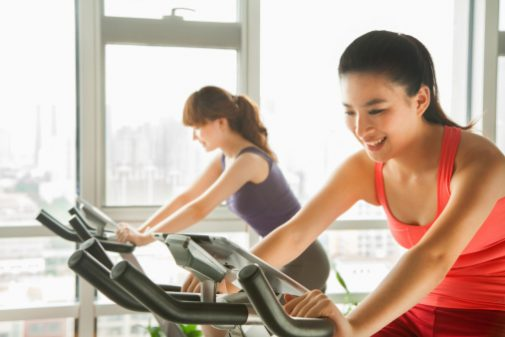 How does exercise affect women's diets?