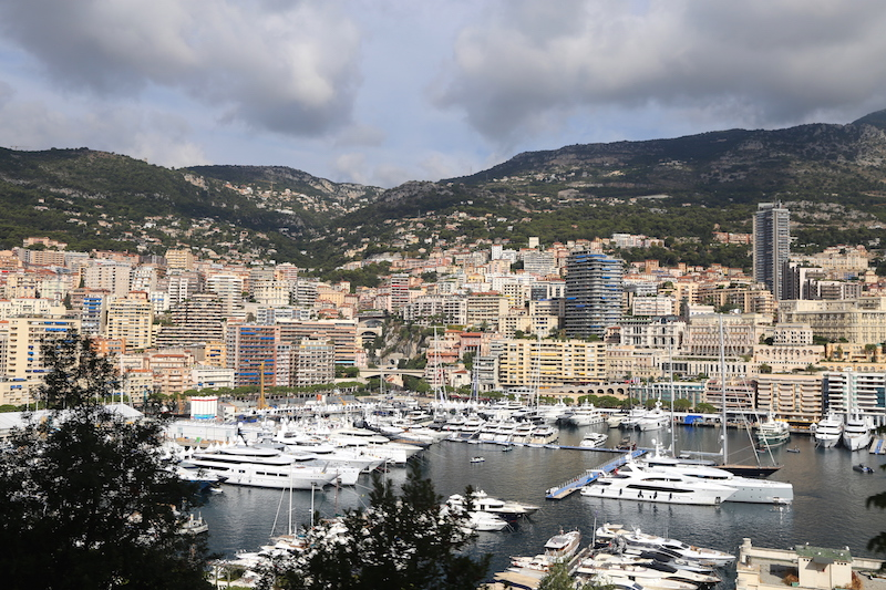 The Yachts in the Monaco Harbor