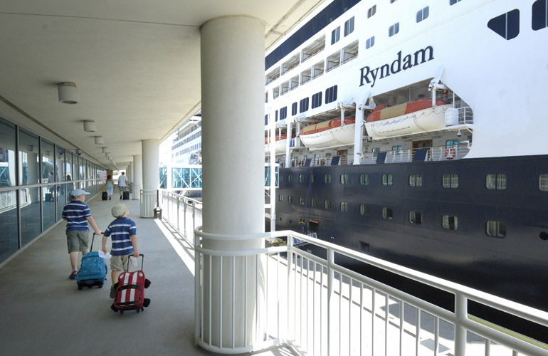 Holland America's Ryndam docked