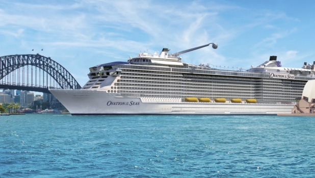 Artist impression of Royal Caribbean's new Ovation of the Seas, the world's newest cruise ship.