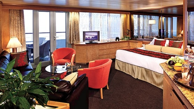 Spacious rooms await on the Pacific Aria.