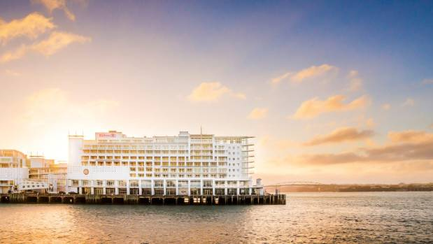 The Hilton Auckland's position on Princes Wharf affords it panoramic views.
