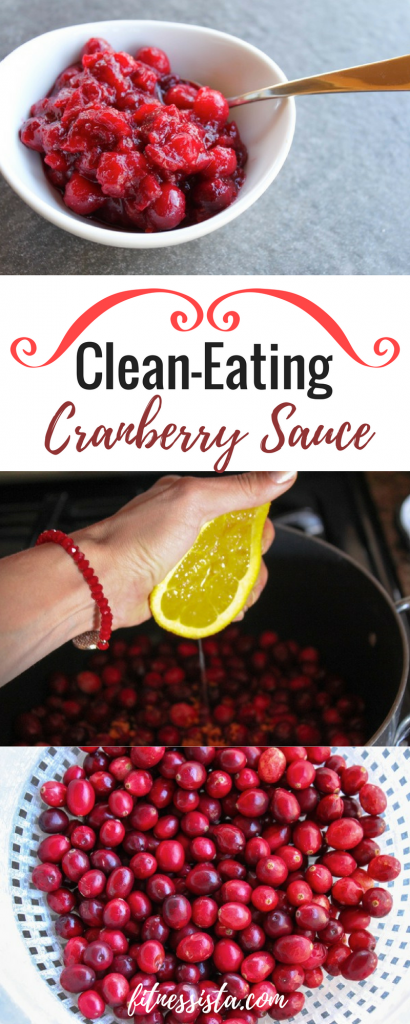 clean eating cranberry sauce