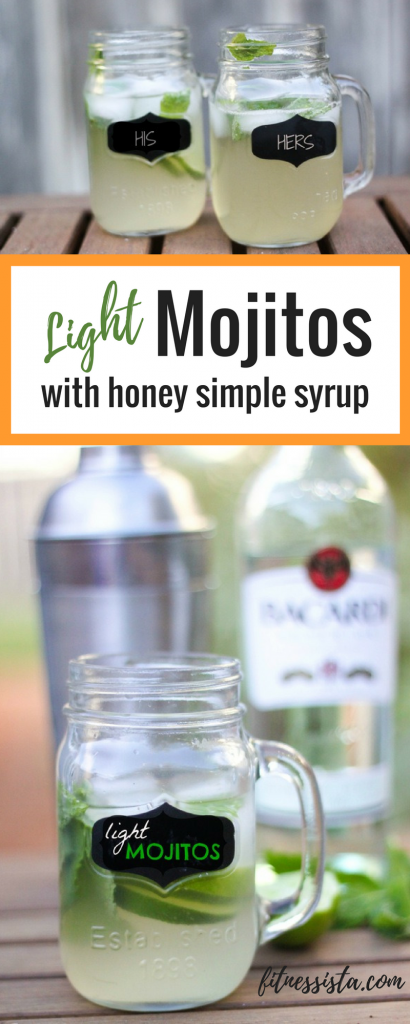 Light Mojitos with Honey Simple Syrup