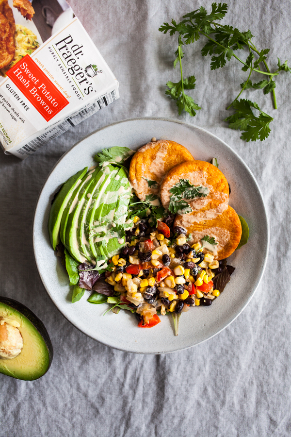 Southwestern Sweet Potato Hash Brown & Black Bean Breakfast Bowls | The Full Helping