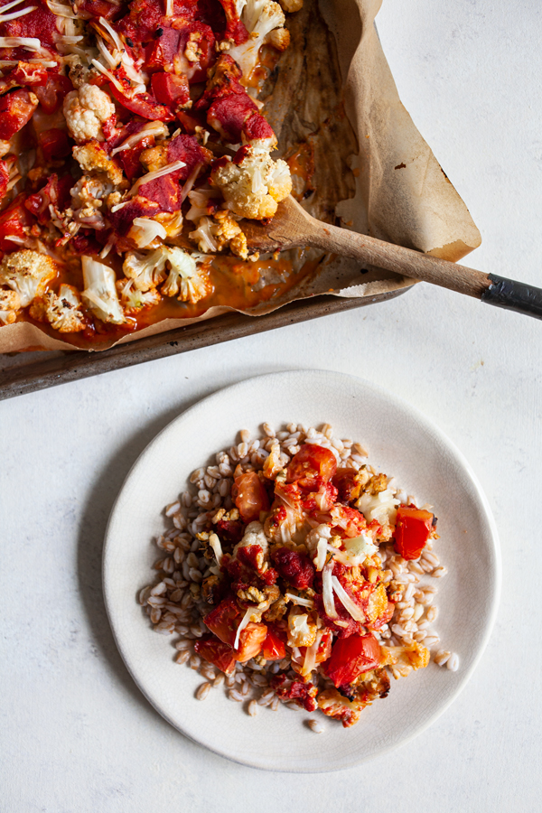 Pizza Cauliflower Bake | The Full Helping